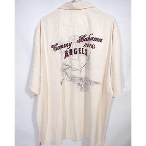 Tommy Bahama Hawaiian Shirt Anaheim Angels 2010